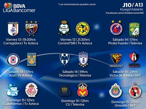 Calendario Liga Mx Jornada 10 Jornada 10 Liga Bbva Bancomer Calendariolaboral Mx