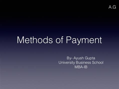 Mergers And Acquisitions Ppt For Mba by Methods Of Payment Mergers And Acquisitions