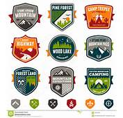 Vintage Travel And Camp Badges Stock Photos  Image 32531223
