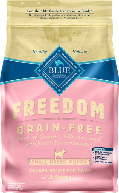 blue buffalo freedom puppy blue buffalo freedom small breed puppy chicken recipe grain free food 4 lb