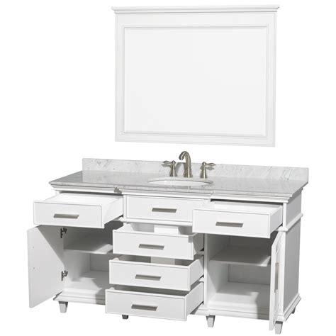 single bathroom vanity white ackley 60 quot white finish single sink bathroom vanity with