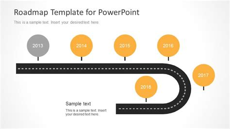 timeline roadmap powerpoint template slidemodel