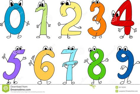 clipart numeri numbers stock vector illustration of colour