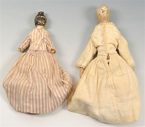 porcelain 1 2 dolls lot 851 19th century dolls 1 porcelain 2 wood
