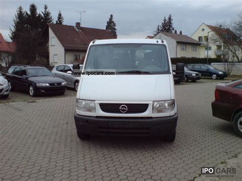 opel movano 2001 2001 opel movano 2 8 dti 9 seats car photo and specs