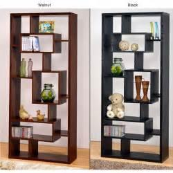 Walnut Veneer Bookcase Black Wood Bookcase Display Cabinet Book Shelf Ebay