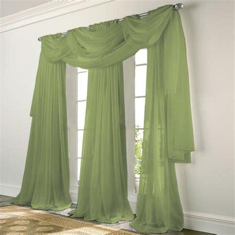 elegance voile sage green sheer curtain bedbathhomecom