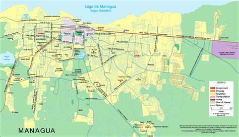 managua nicaragua map map of managua 187 travel