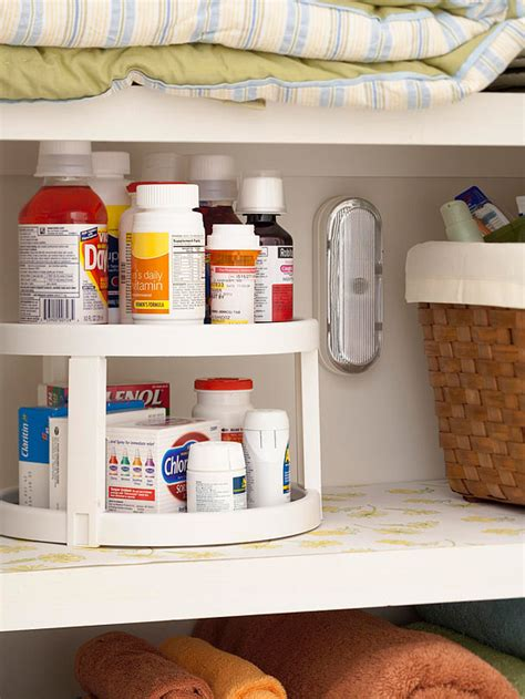 bathroom lazy susan pretty functional bathroom storage ideas the