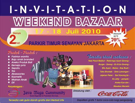 Desain Brosur Bazar | weekend bazaar event pameran franchise wirausaha