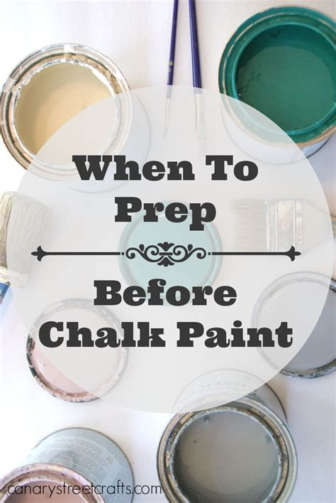 When To Prep Before Chalk Paint Do It Yourself