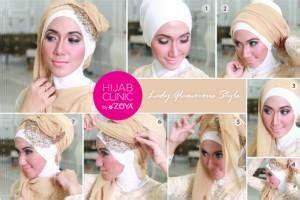 tutorial hijab segitiga polos hijab tutorial lady glamorous style gunakan ciput hatori