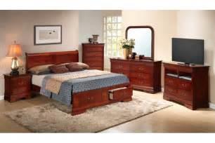 bedroom sets dawson cherry queen size storage bedroom set newlotsfurniture