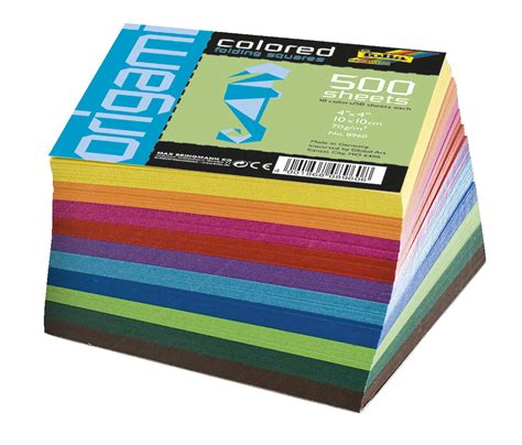 Solid Colored Origami Paper - folia origami paper assorted solid colors 4 x 4 in 500