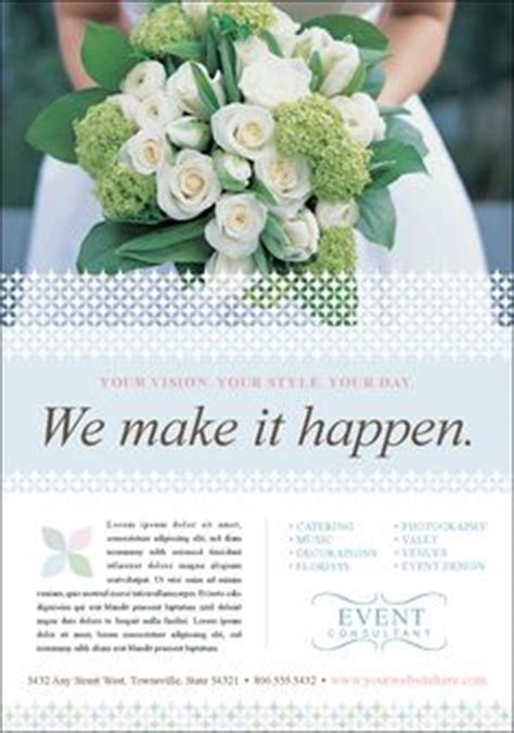 Wedding Stationery Brochure by Corporate Event Planner Caterer Brochure Postcard