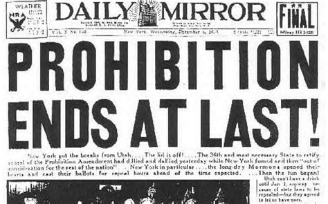prohibition ends happy repeal day