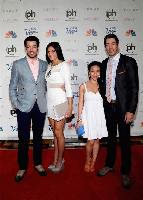property brothers drew scott and linda phan photos photos arrivals at the