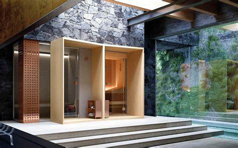 box doccia in legno composizione modulare sauna e hammam stufa con pietre