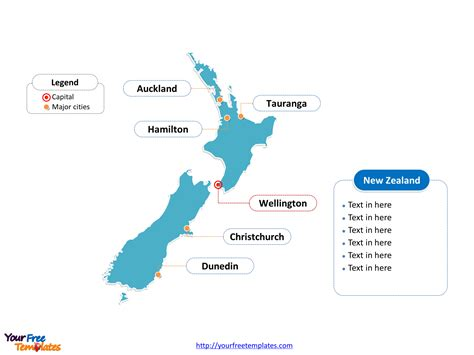 zealand editable map  powerpoint templates