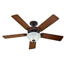 hunter 44 in ridgefield five minute white ceiling fan with