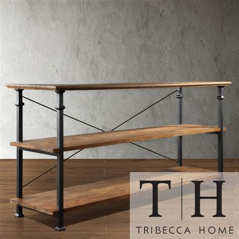 myra vintage industrial tv stand by tribecca home by