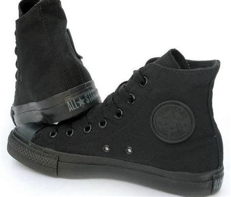 all black high top converse shoes i want