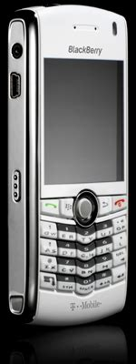 White Blackberry Pearl Is Free If You Choose The Right Contract by T Mobile All White With Blanched Blackberry Pearl The