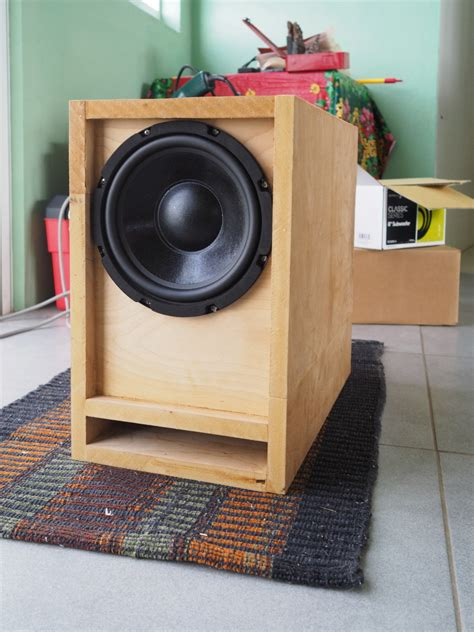 cube cubed  passive radiator subwoofer build home