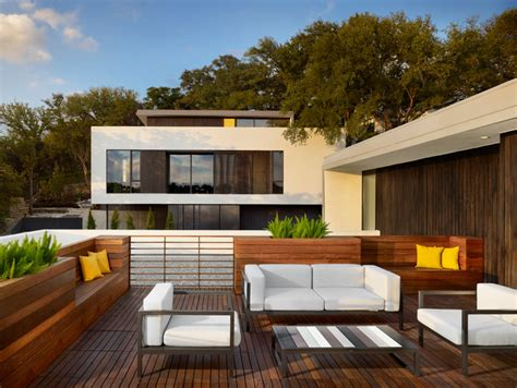 modern backyard deck design ideas parkside residences modern deck austin by