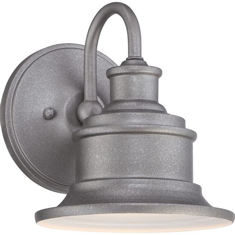 Outdoor Galvanized Lighting Quoizel Sfd8407gv Galvanized Seaford 1 Light 8 Quot Industrial Outdoor Wall Sconce