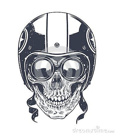 dotwork rider skull