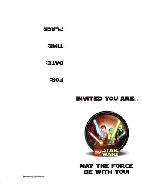 printable star wars party invitations lego star wars free printable birthday party invitation