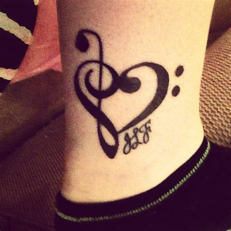 treble clef heart tattoo 17 best ideas about treble clef on