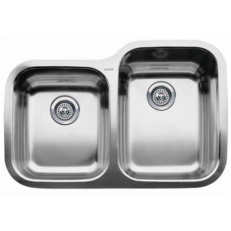 Blanco Stainless Steel Kitchen Sinks Shop Blanco Supreme 20 87 In X 31 31 In Stainless Steel Basin Undermount Residential