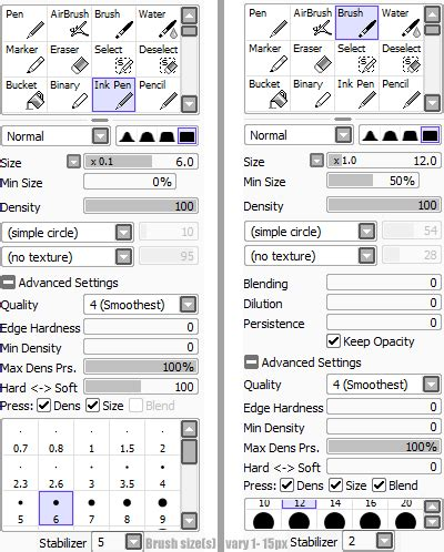 paint tool sai jitter brush settings sai by ninjakato on deviantart