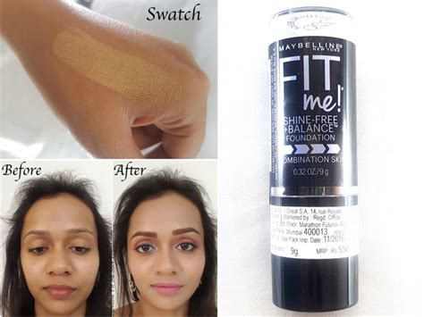 Maybelline Fit Me Foundation Review Indonesia maybelline fit me shine free stick foundation review