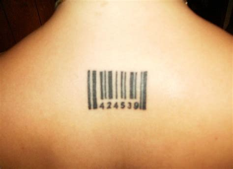 barcode tattoos for men upperback barcode for tattooshunt