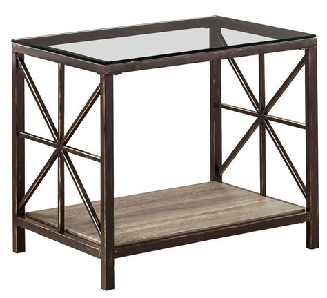 metal and glass end tables avondale metal glass end table from coaster 701397