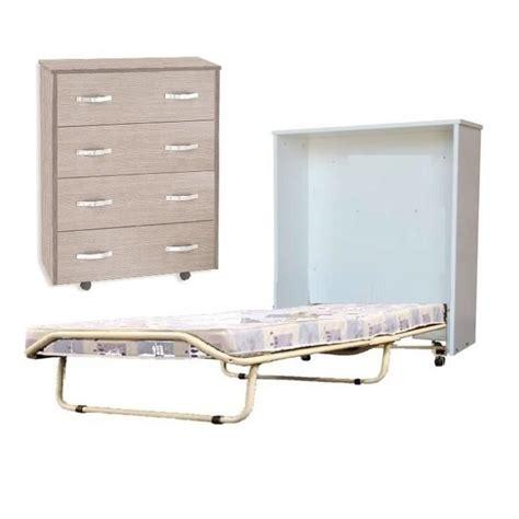 lit pliant en bois pas cher lit d appoint dans une commode
