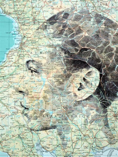 ed fairburn creates portrait drawings  street map canvas