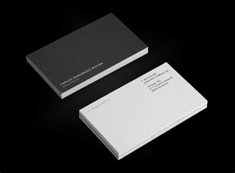 architect business card 30 inspirational personal business cards pixel curse