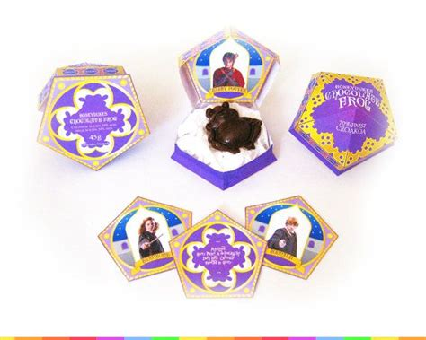 chocolate frog box template includes matching sign
