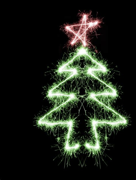 photo of sparking christmas tree free christmas images