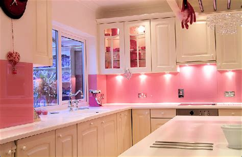 glam pink kitchens