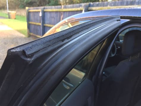 How To Seal A Car Door From Leaking by Rear Door Seal Leaking