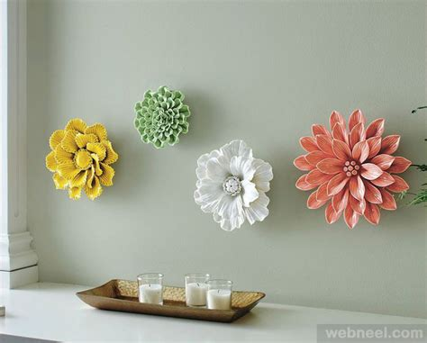 Ceramic Wall Flower Decor by Ceramic Flower Wall Sculpture 15