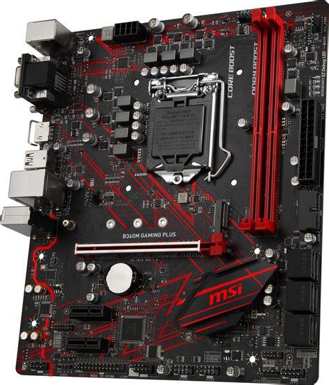 best msi motherboard msi b360m gaming plus intel motherboard best deal