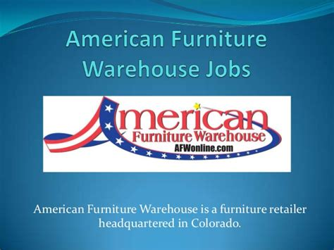 American Furniture Warehouse Careers by American Furniture Warehouse