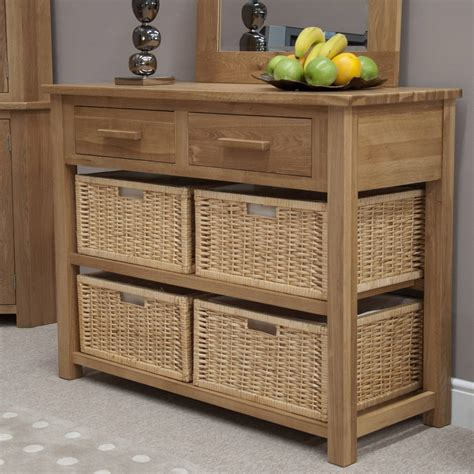 Basket Storage Furniture by Modern Console Table With Storage