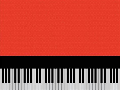 Piano on Red Powerpoint Templates - Black, Music, Red ... Microsoft Garden Clipart